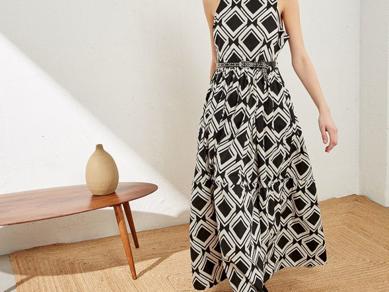 DRESS WITH GEOMETRIC PRINT